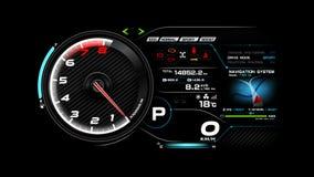 Car dash board illustration eps 10 003. Futuristic automobile concept, Car dash board illustration eps 10 stock illustration