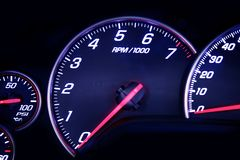 Car Dash with Instruments Stock Photography