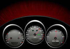 Car dashboad. Detailed illustration of a car dashboad Stock Photos