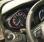 Car dashboard. Detailed view of a modern car's dashboard Stock Images
