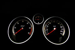 Car dashboard Stock Image