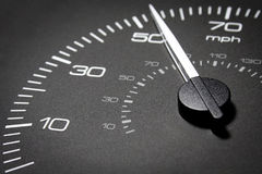 Car dashboard. Automobile car dashboard black with white numbers Royalty Free Stock Images