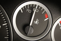 Car dashboard. Automobile car dashboard black with white numbers Royalty Free Stock Photography