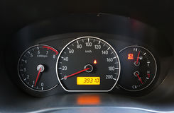 Car dashboard. A shot of the car dashboard royalty free stock image