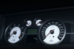 Car dashboard. Dashboard of a car with speedometer royalty free stock image