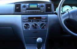 Car dashboard. Close view of Toyota Corolla dashboard Royalty Free Stock Images