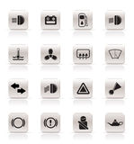Car Dashboard. Simple vector icons set Stock Images