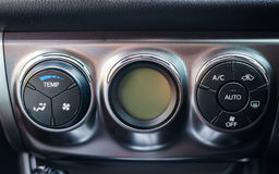 Car dashboard. Air conditioning system. Background Stock Images