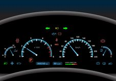 Car dashboard background Royalty Free Stock Photo