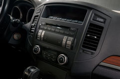 Car dashboard with buttons. Royalty Free Stock Photo