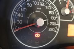 Car dashboard. New tecnology auto Stock Images