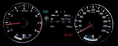 Car dashboard, Cerato royalty free stock photography