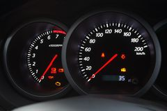 Car dashboard closeup Royalty Free Stock Photo