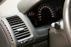 Car dashboard closeup view. Modern car dashboard closeup photo Royalty Free Stock Photo