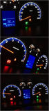 Car dashboard collage Royalty Free Stock Photography