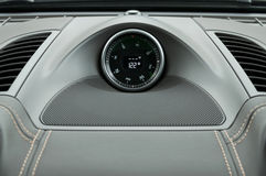 Car dashboard compass. Royalty Free Stock Photography