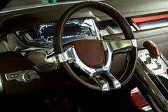 Car dashboard of concept car. Car dashboard of new concept car stock photo