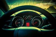 Car Dashboard Console Royalty Free Stock Image