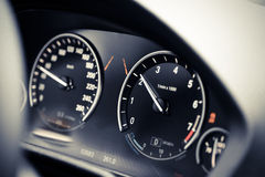 Car dashboard detail Royalty Free Stock Photo