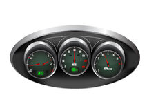 Car Dashboard Dials Stock Images