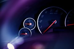 Car Dashboard Dials Stock Photo