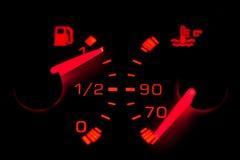 car dashboard gauges neon Στοκ φωτογραφία με δικαίωμα ελεύθερης χρήσης