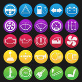 Car Dashboard Icon Set Royalty Free Stock Images