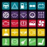 Car Dashboard Icon Set Stock Photos