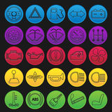 Car Dashboard Icon Set Royalty Free Stock Photography