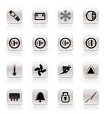 Car Dashboard icons Stock Photos
