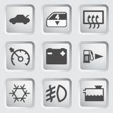 Car Dashboard Icons Stock Photos