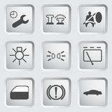 Car Dashboard icons 3 Royalty Free Stock Photography
