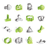 Car Dashboard icons Royalty Free Stock Photography