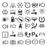 Car dashboard icons Royalty Free Stock Photo