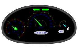 Car dashboard indicators Royalty Free Stock Photography