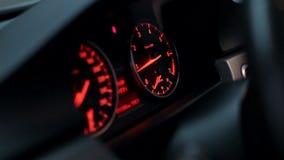 Car dashboard indicators stock video