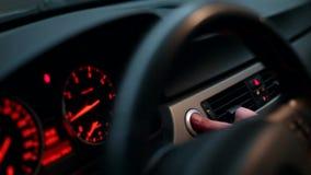 Car dashboard indicators stock footage