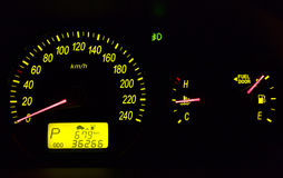car dashboard instruments Royalty Free Stock Images
