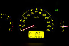 Car dashboard instruments Stock Photo