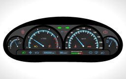 Car Dashboard Isolated Royalty Free Stock Image