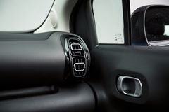 Car Interior: Modern Air Vents and Door Handle royalty free stock images