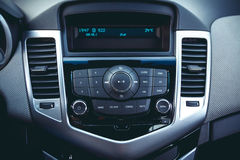 Car dashboard. Modern interior design stock photo