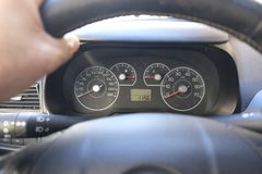 Car dashboard. New tecnology auto Royalty Free Stock Photo