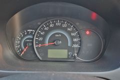 Car dashboard at night there are alerts to see the system of cars. Car dashboard at night stock photo