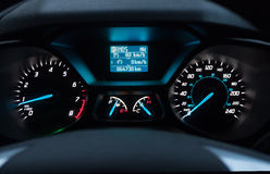 Car Dashboard at night Stock Image