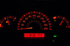 Car dashboard orange Royalty Free Stock Photo