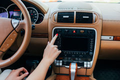 Car dashboard. Stock Image