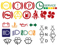 Car dashboard signs Stock Photos