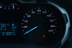 Car dashboard speedometer. Royalty Free Stock Images