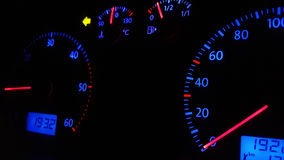 Car Dashboard. Speedometer on The Car Dashboard Royalty Free Stock Images